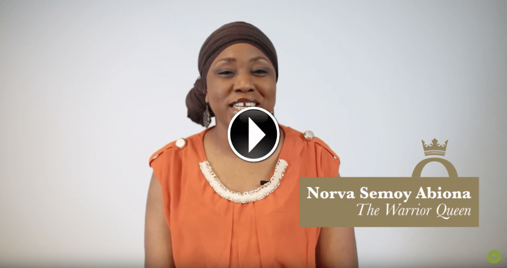 norva abiona warrior queen logo video